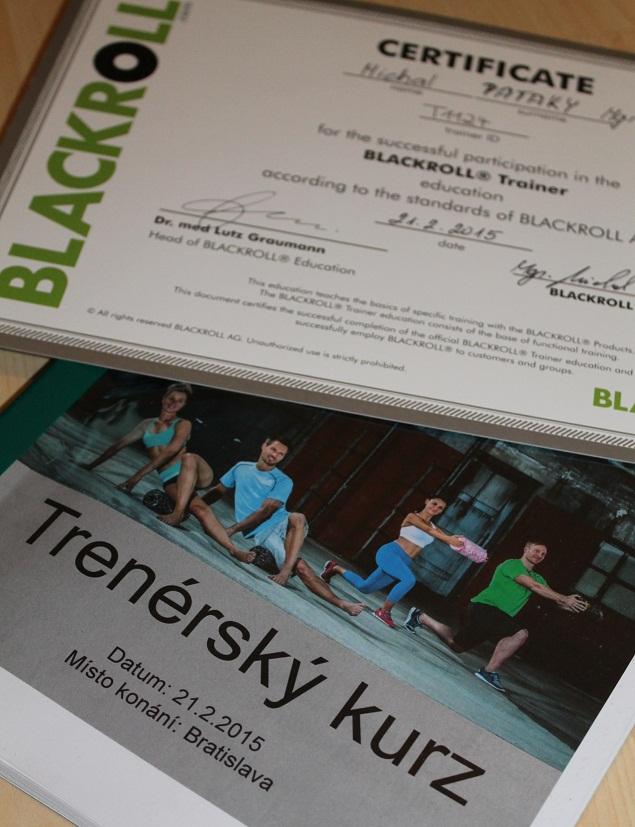 Blackroll trener certifikát