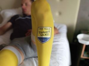 kompresné oblečenie SAXO-Tinkoff - full leg