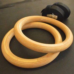 gymnasticke kruhy, drevene